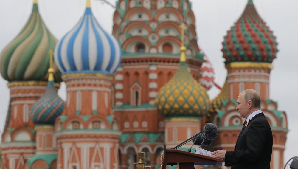Vladimir Putin, en la celebración del Día de la Victoria en Moscú