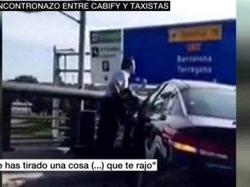 Incidente de un taxista un conductor de Cabify