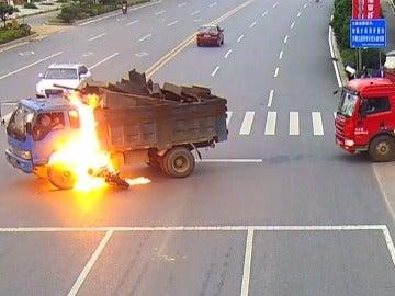 Accidente de tráfico en China