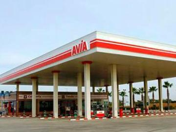 Estación de gasolina de AVIA en La Carlota, Córdoba