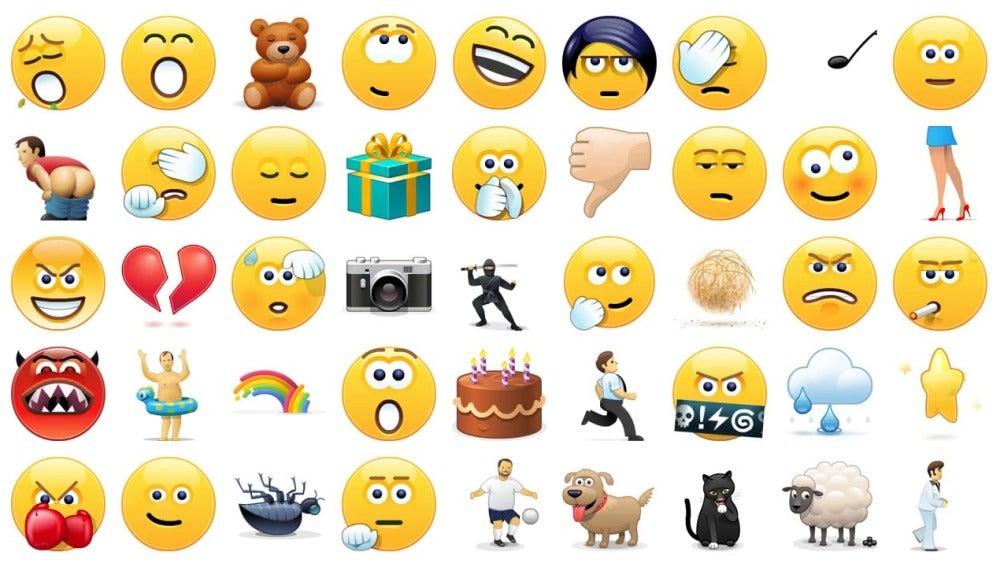 Emojis animados de Skype que también aparecerán en Whatsapp