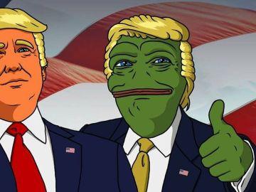 Donald Trump y Pepe, la Rana