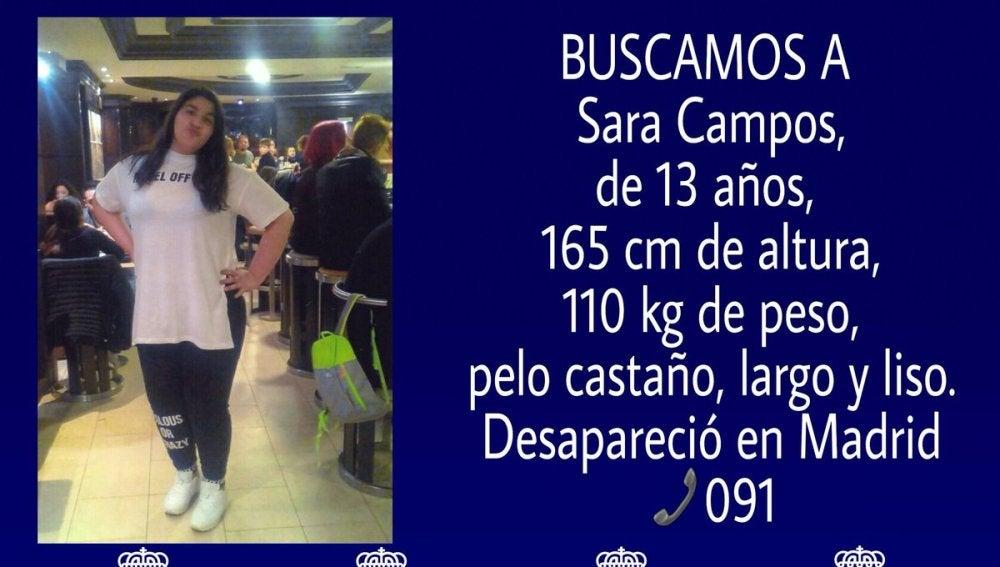 Desaparecida una joven de 13 años en Madrid