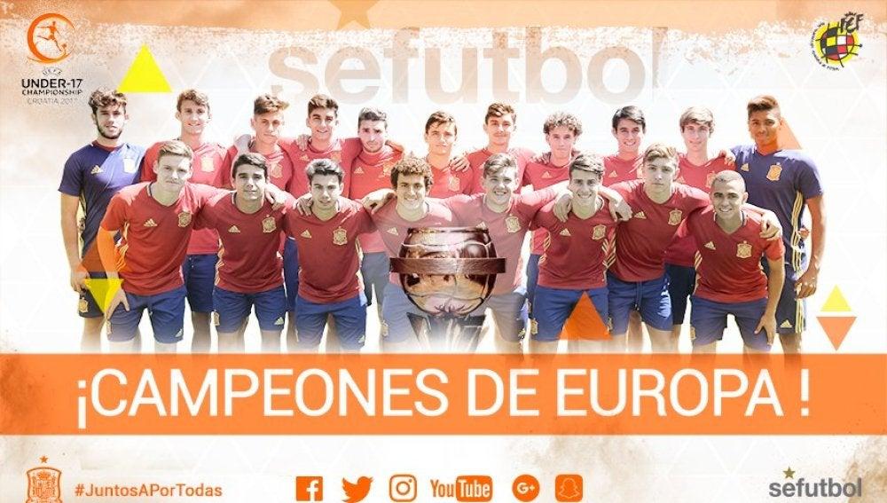 La selección española sub-17 gana el Europeo