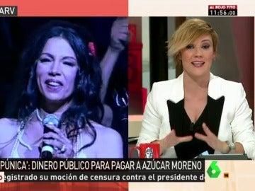 Concierto de Azúcar Moreno en un mitin del PP