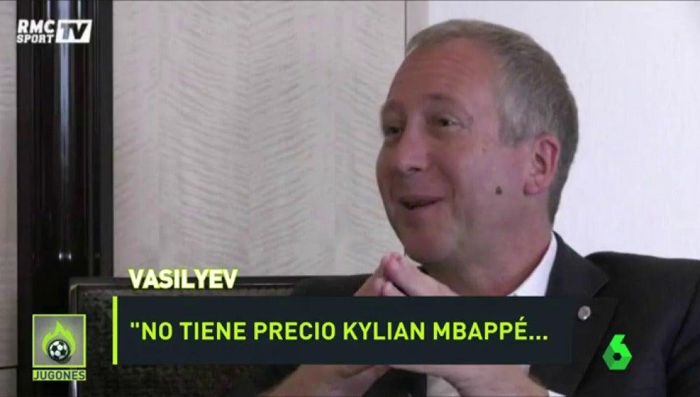 """Frame 0.0 de: Vasilyiev, vicepresidente del Mónaco: """"Estamos dispuestos a rechazar una oferta de 100 millones por Mbappé"""""""