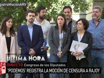 Unidos Podemos registra la moción de censura contra Rajoy