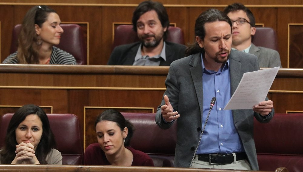 Los miembros de Podemos en el Congreso de los Diputados