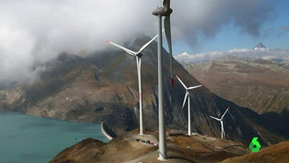 Imagen de un parque eólico