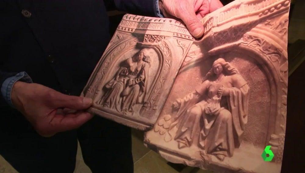 Recuperan dos relieves expoliados de la catedral de Alcalá