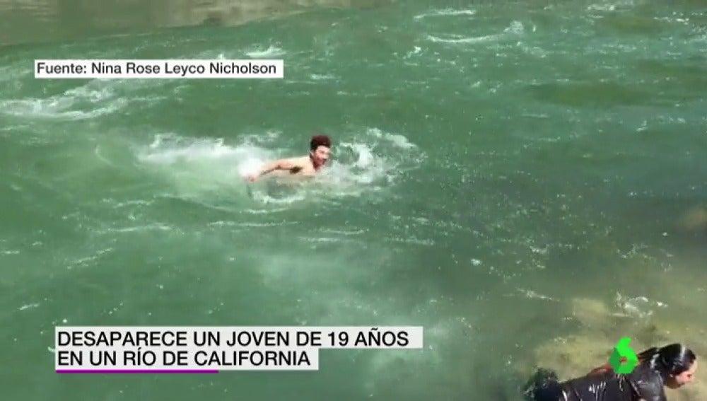 Desaparece un joven de 19 años en un río de California