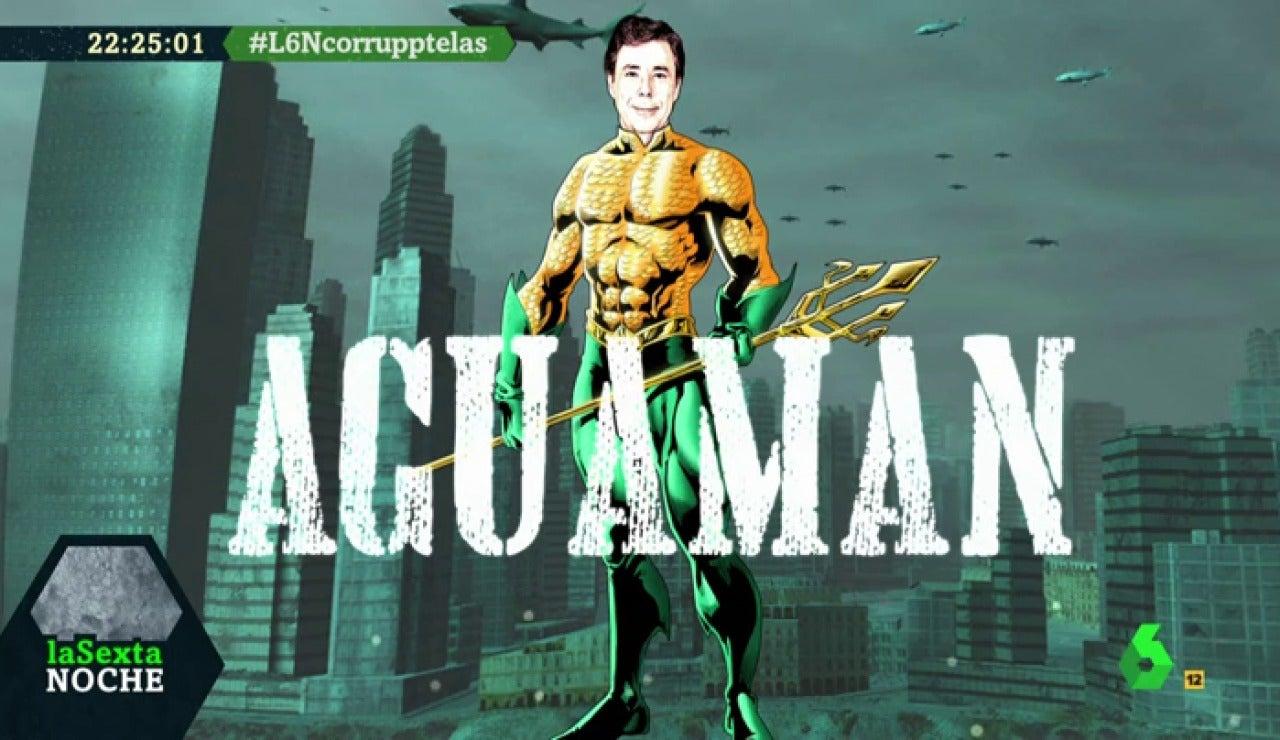 Ignacio González interpreta el papel de 'Aguaman'