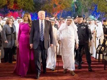 Donald Trump y Melania en su visita a Arabia Saudí