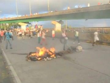En la manifestación contra el abandono estatal en Colombia