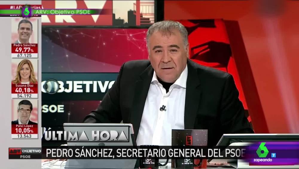 Ferreras luce la camisa blanca tras la victoria del Madrid