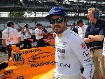 Fernando Alonso, en Indianápolis