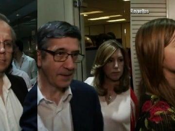 Antonio Miguel Carmona, Patxi López, Susana Díaz y Verónica Pérez