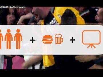 Frame 24.285721 de: Celebra el gol de la Champions