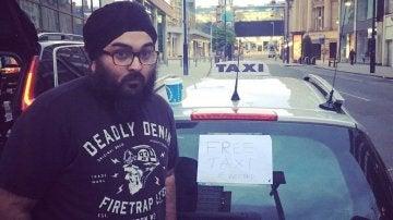 AJ Singh, taxista de Manchester