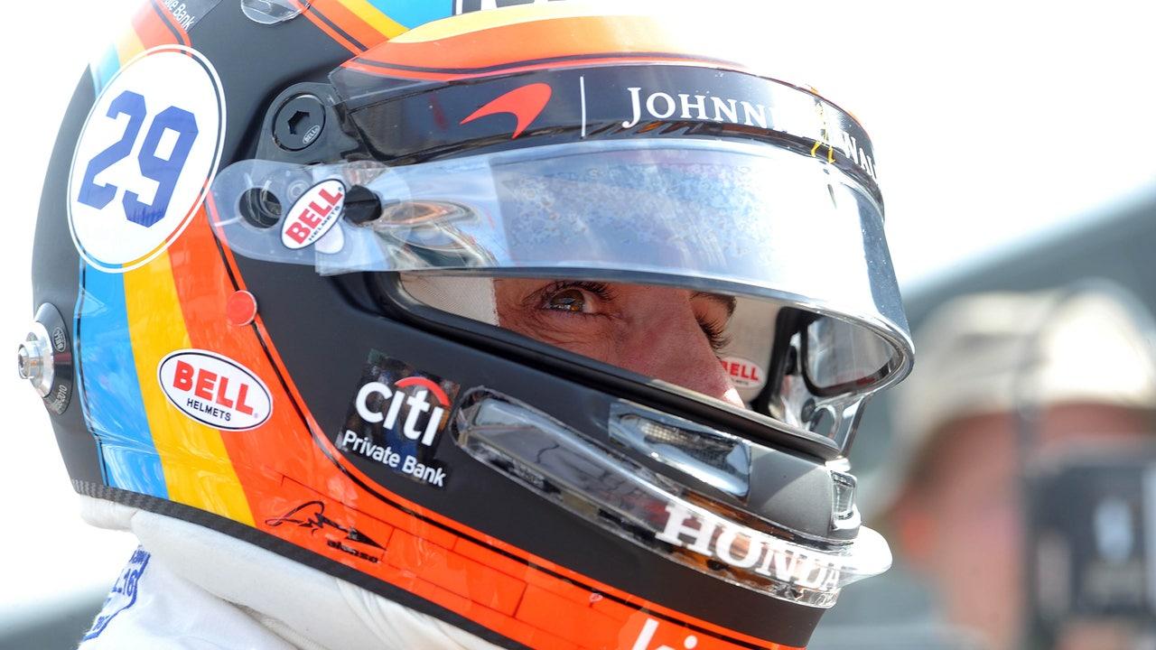 Fernando Alonso, durante las 500 millas de Indianápolis