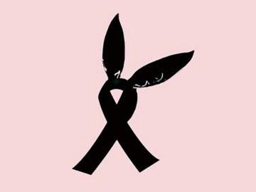 Lazo solidario con las 'orejas de gato' de Ariana Grande