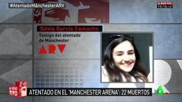 Silvia García, testigo del atentado en Manchester