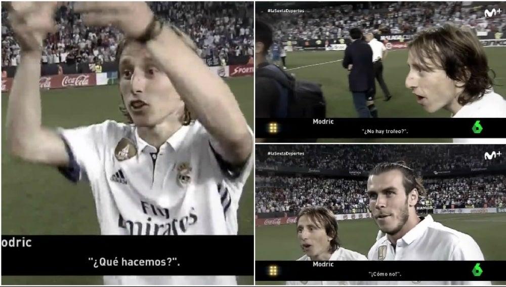 Modric y Bale, no se creen que no levanten la Liga