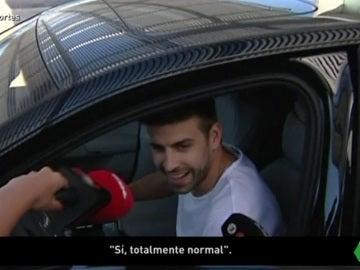Gerard Piqué, a su llegada al aeropuerto de Barcelona