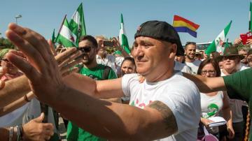 Andrés Bódalo, a su salida de prisión