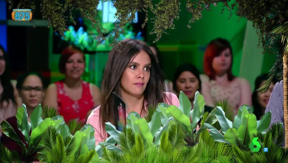 Cristina Pedroche, sudando la gota gorda en Zapeando