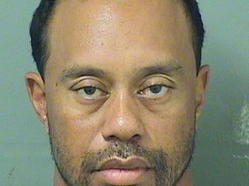 La ficha policial de Tiger Woods