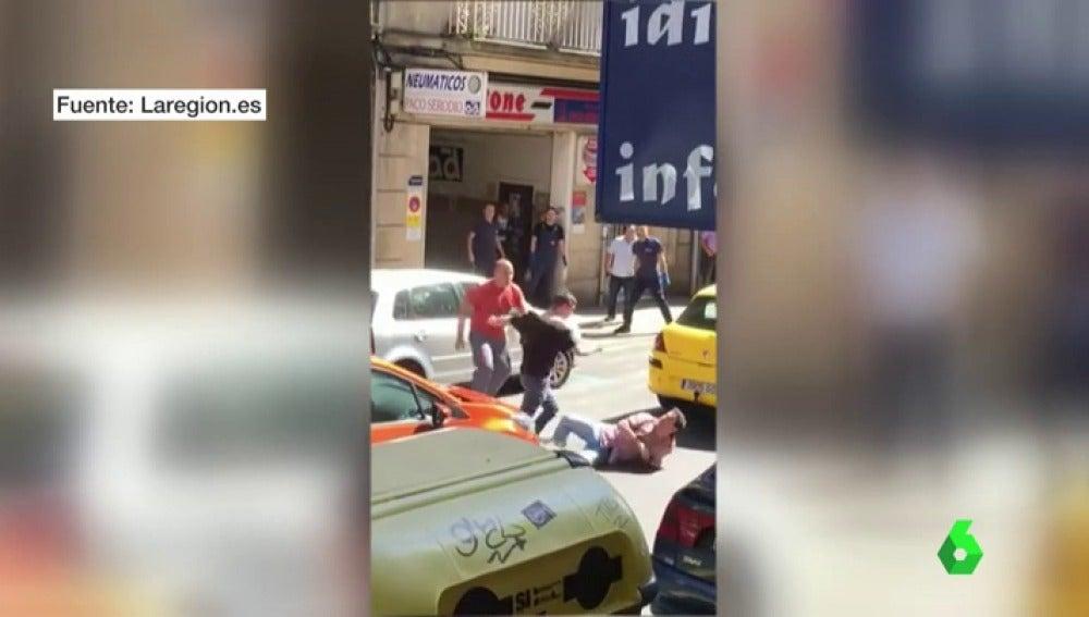 Imagen de la brutal pelea en Ourense