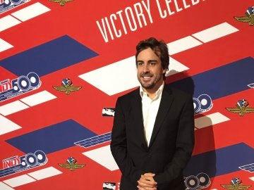 Fernando Alonso, sonriente en la gala de la Indy 500
