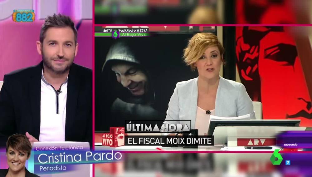 Cristina Pardo conecta con Zapeando