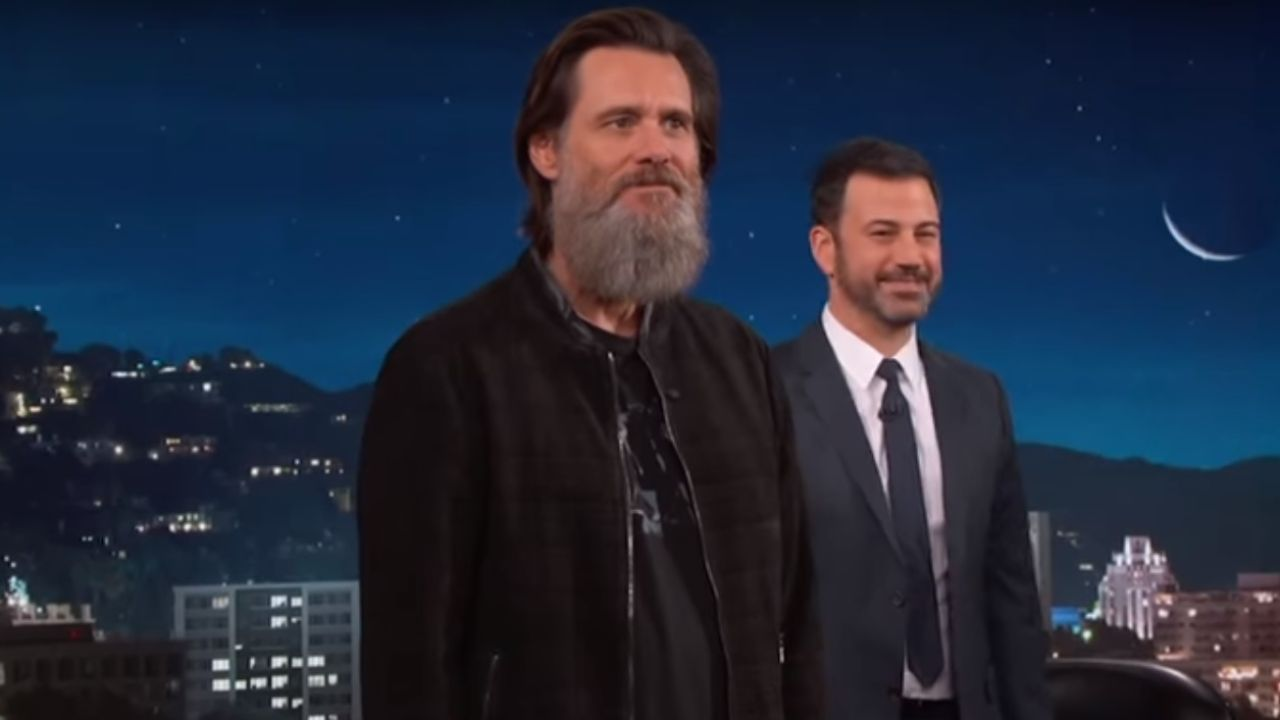 Jim Carrey, en el show de Jimmy Kimmel