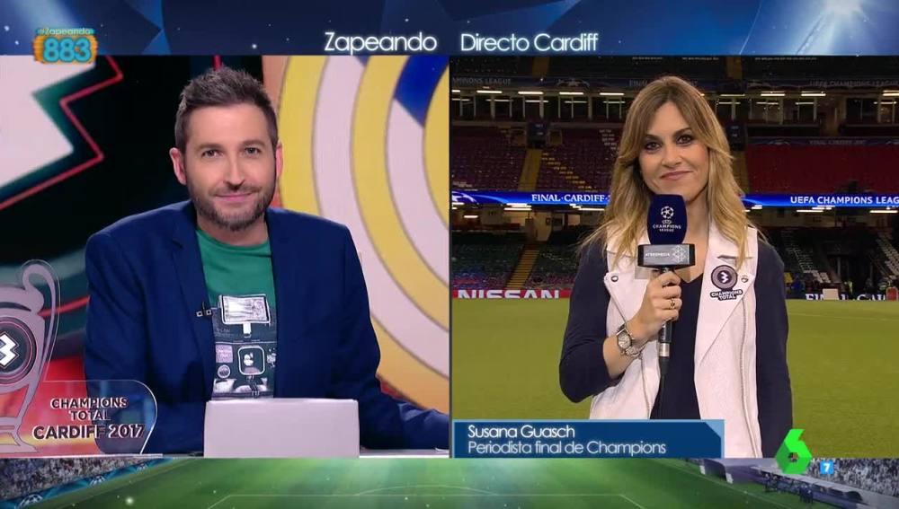 La periodista deportiva Susana Guasch conecta con Zapeando