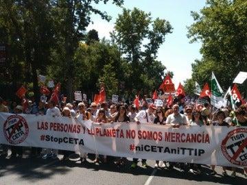 Protestas contra el CETA en Madrid