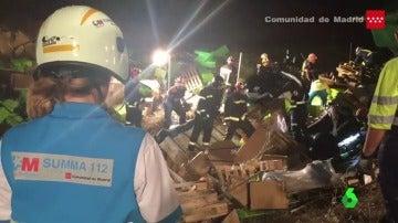 La carga del camión que ha aplastado al conductor