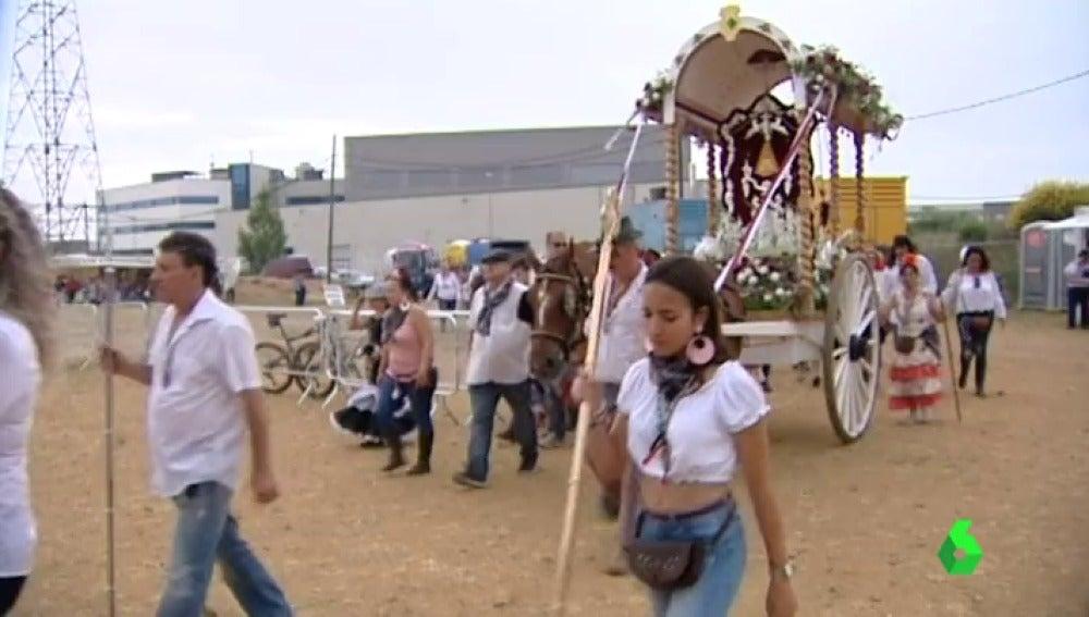 Las carretas llegando a la romería de terrassa