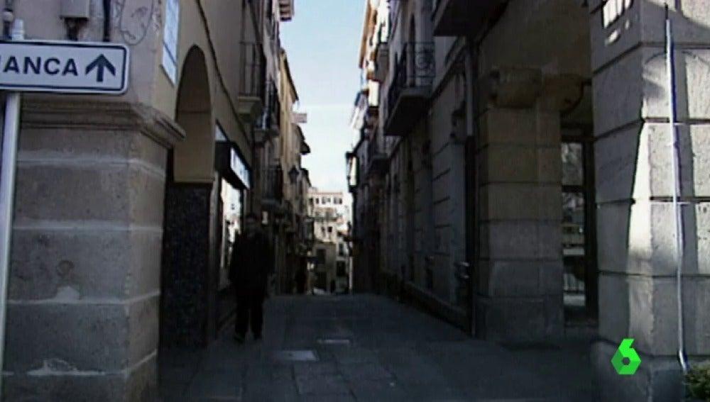 Calle de Plasencia donde fue agredida sexualmente una mujer