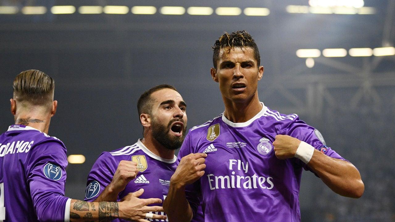 Cristiano Ronaldo celebra su gol con el Real Madrid
