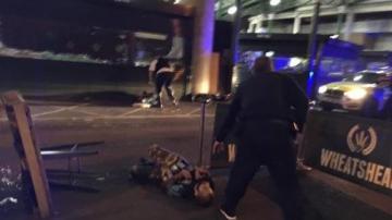 Imagen de los dos supuestos terroristas abatidos tras el atentado en Londres
