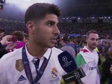 """Frame 11.396114 de: Asensio: """"Zidane ha sabido llevar el grupo muy bien y ese es el secreto"""""""