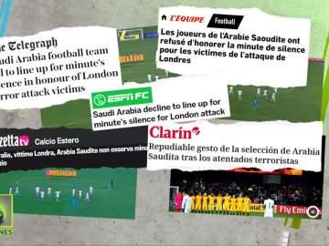 La prensa mundial condena el gesto de los jugadores de Arabia Saudí