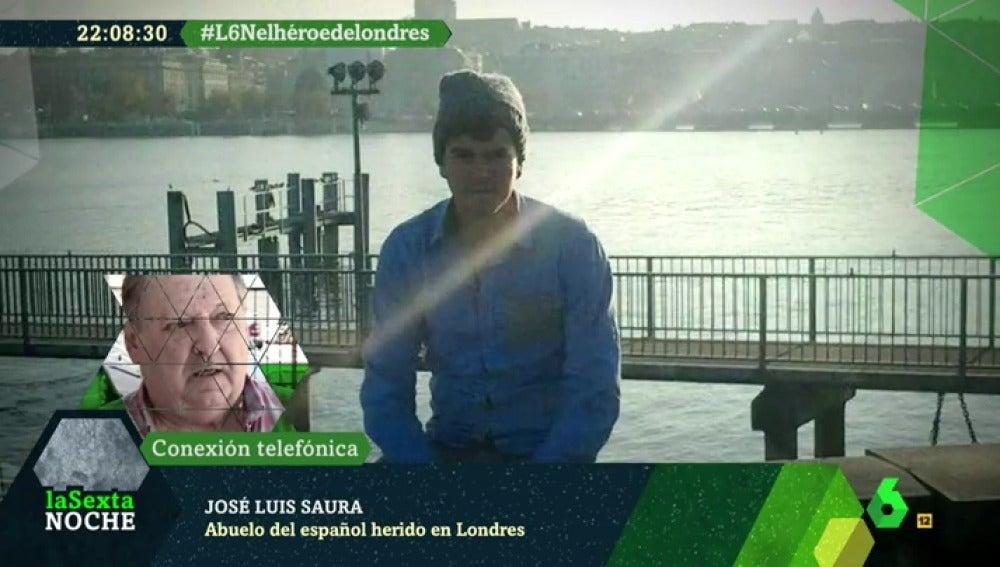 José Luis Saura, abuelo del español herido en Londres