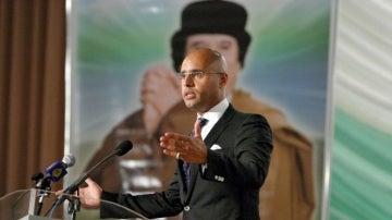 Saif al Islam, segundo hijo de Gadafi (Archivo)