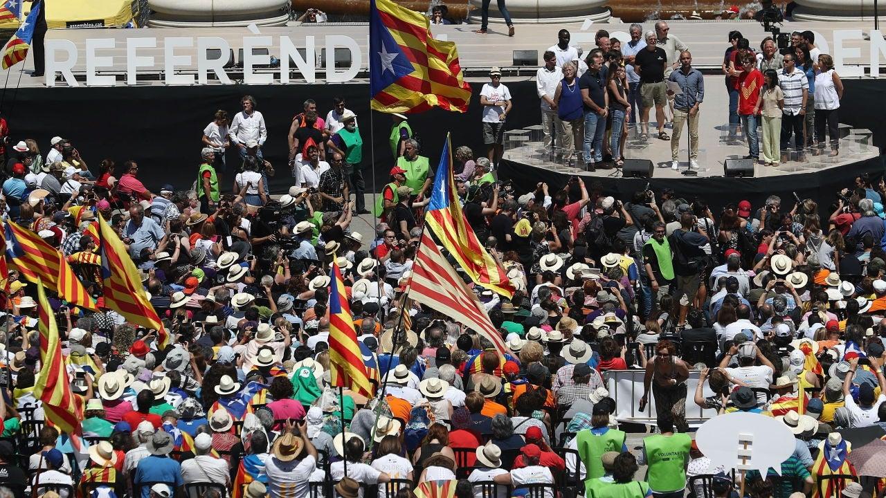 Concentración por el referéndum en Cataluña
