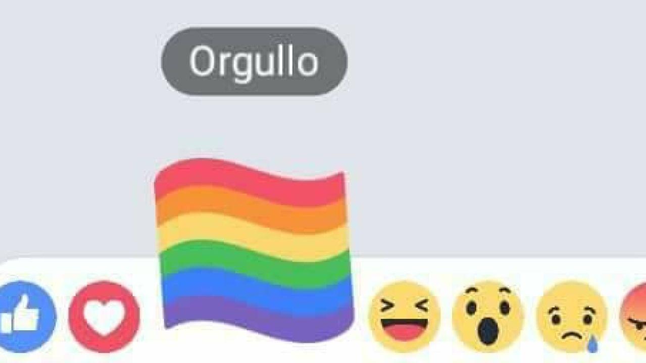 Bandera Orgullo LGTB en Facebook