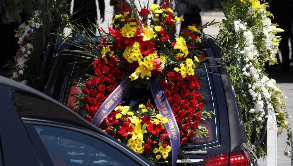 Los restos mortales del joven Ignacio Echeverría