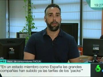 Rubén Sánchez, portavoz de Facua
